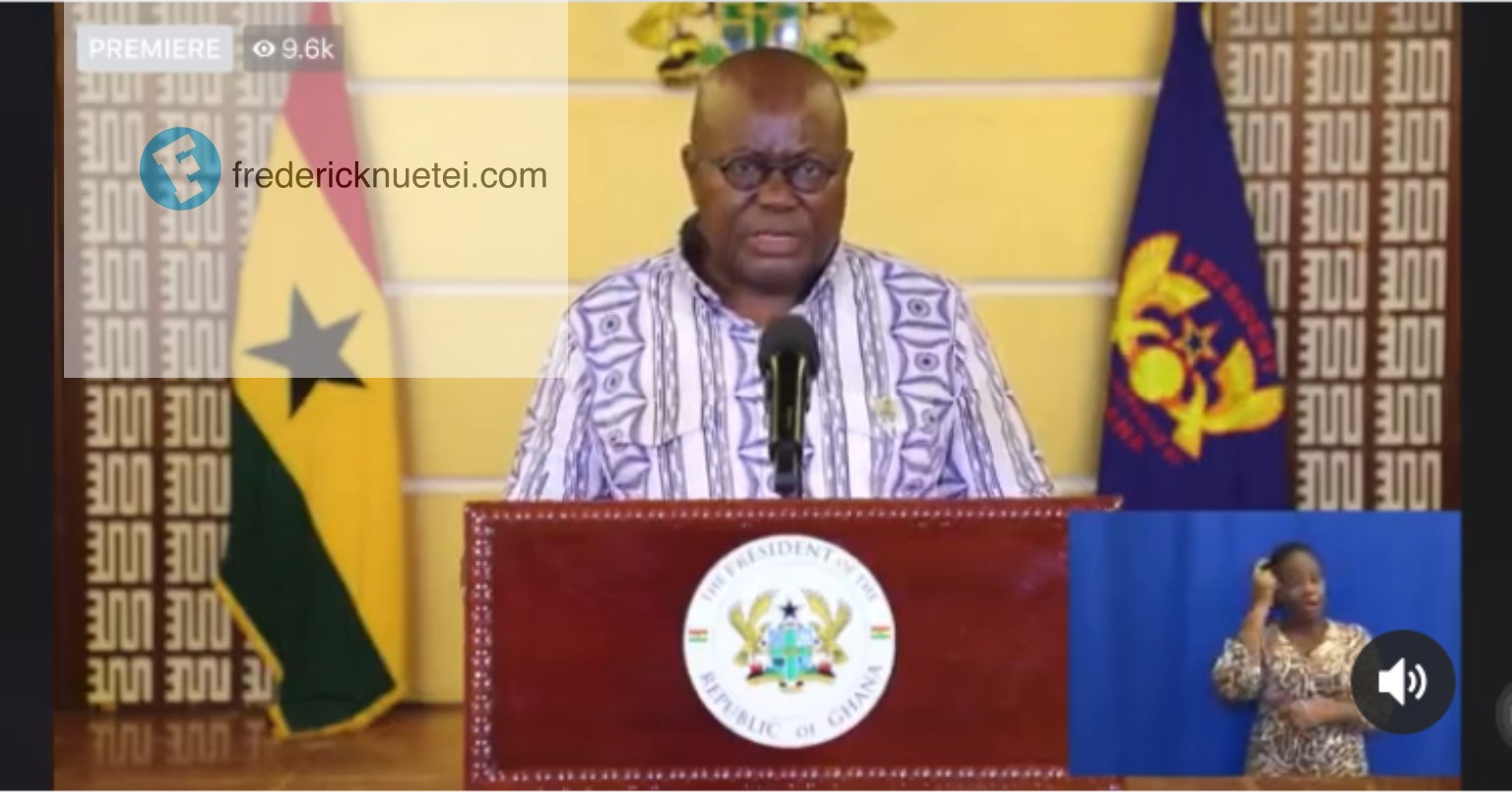 Borders Remain Closed Till Further Notice But Restrictions On The Number Of Passengers In Airplanes And Cars Lifted - President Nana Akufo-Addo