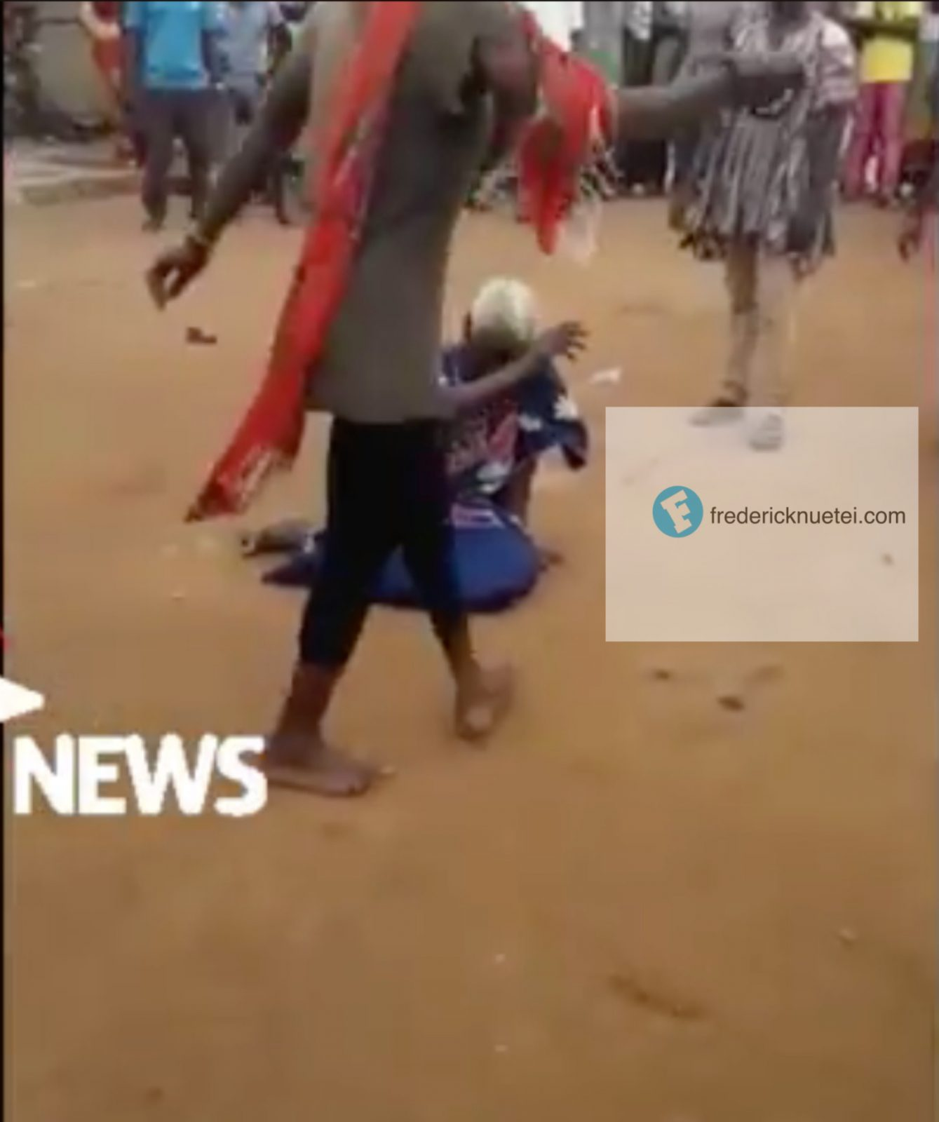 An Old Woman Lynched On Suspicion Of Witchcraft