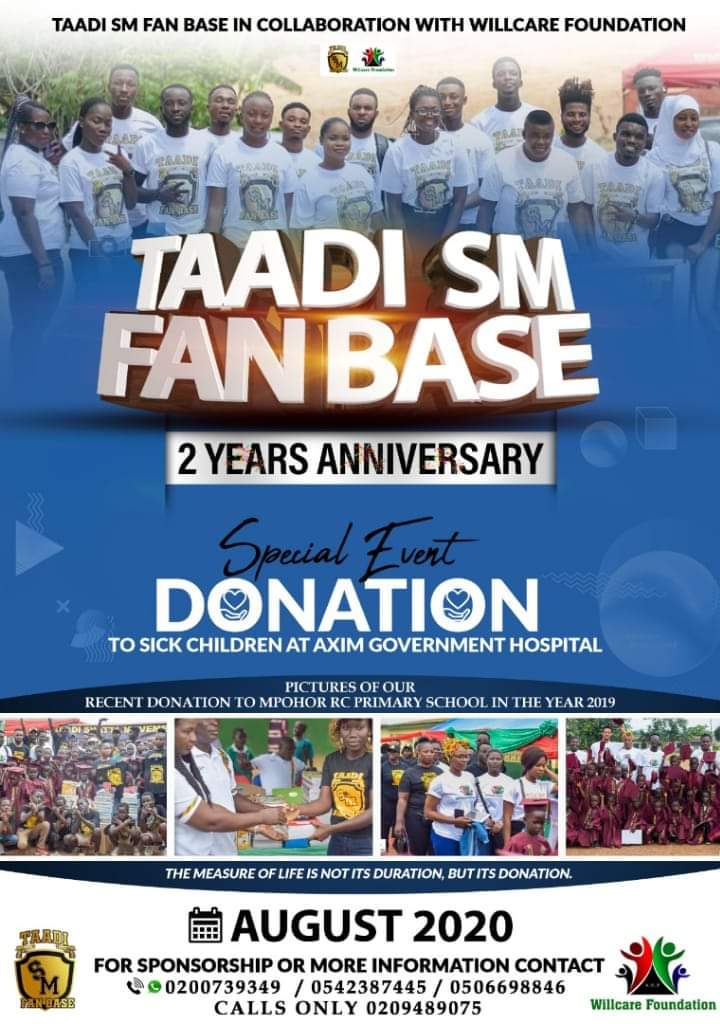 Taadi SM Fan Base Celebrates 2nd Anniversary With A Climax Of Donation To The Axim Government Hospital