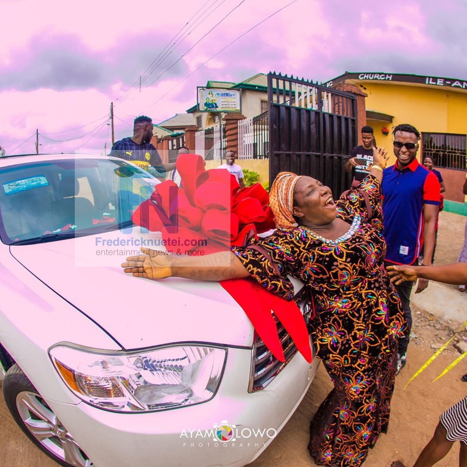 DJ Kaywise Gifts His Mum A Car On Her Birthday