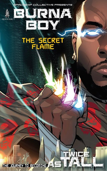 Burna Boy Set To Release His Own Comic Book, The Secret Flame Alongside With His Twice As Tall Album