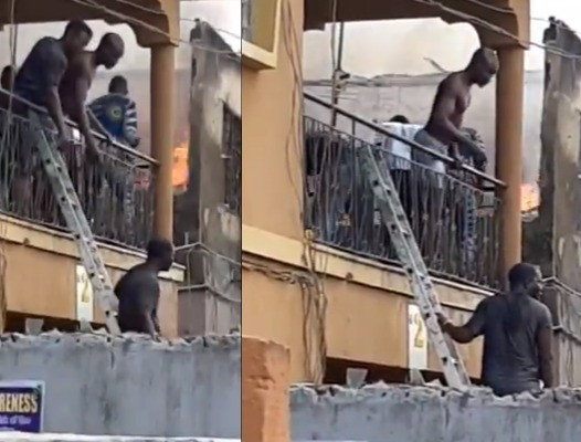 Fire Guts One-Storey Building At 10 Moliki Street In The Mushin Local Government Area Of Lagos State