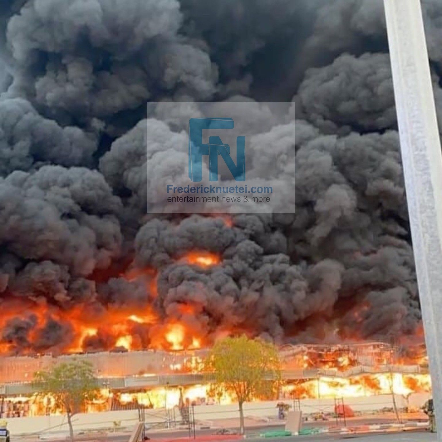 Properties Destroyed As Ajman Market In Dubai is Gutted By Fire