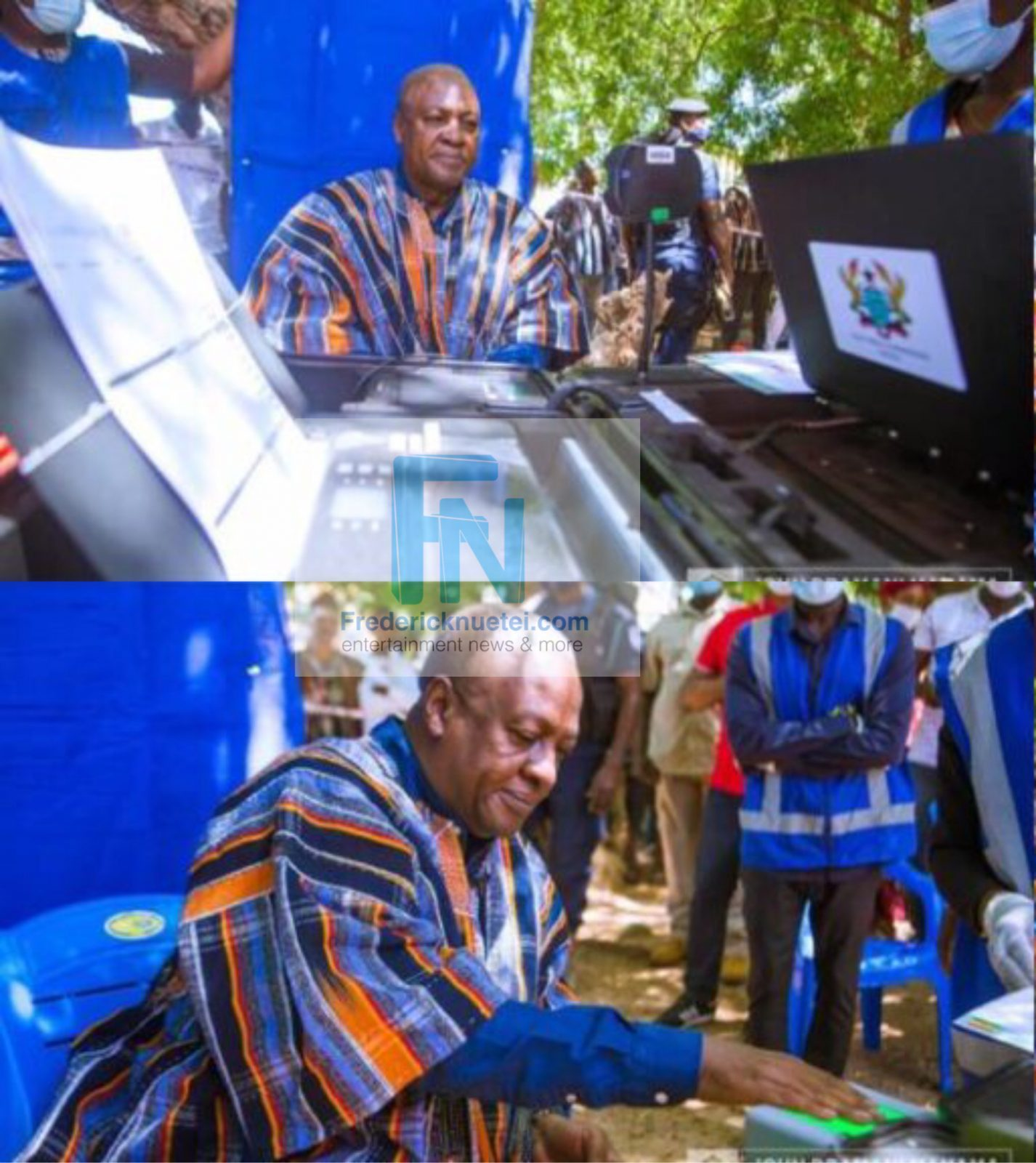 John Dramani Mahama Registers For His Voter ID Card In Bole Bamboi Ahead Of December 7 General Elections