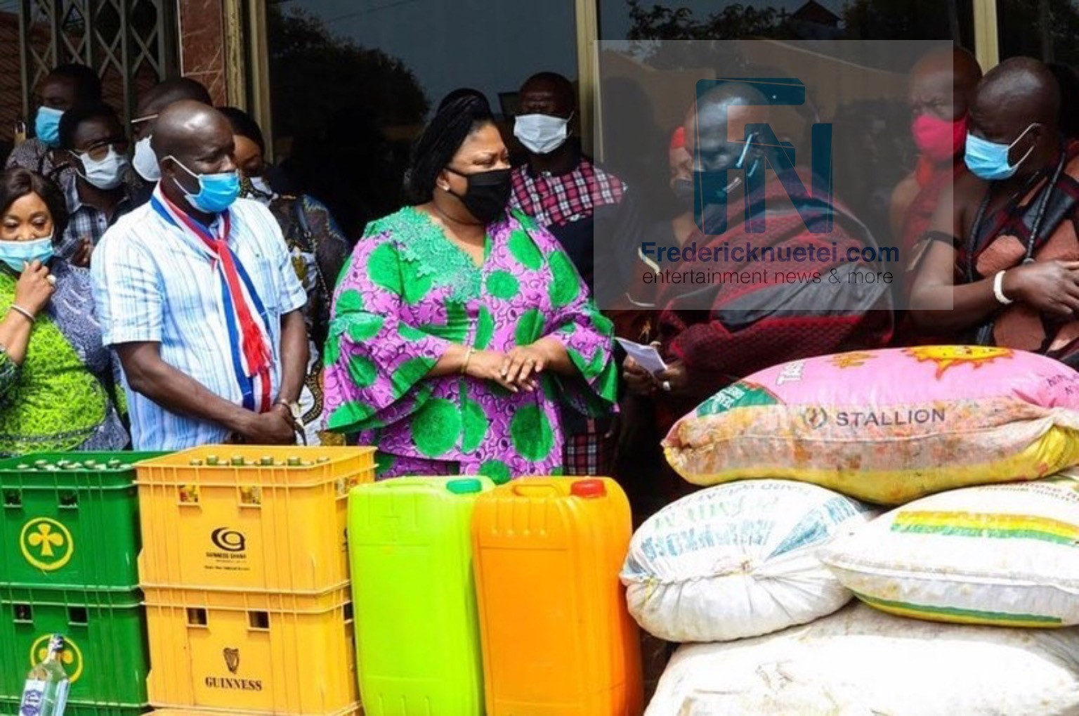 The First Lady Of Ghana, Rebecca Akufo-Addo Has Presented Some Items To The Tema Traditional Council Towards This Year's 'Homowo' Festival