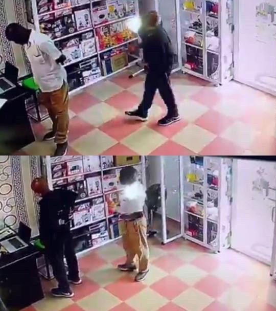 CCTV Camera Caught Two Elderly Men Stealing From A Shop At Nungua