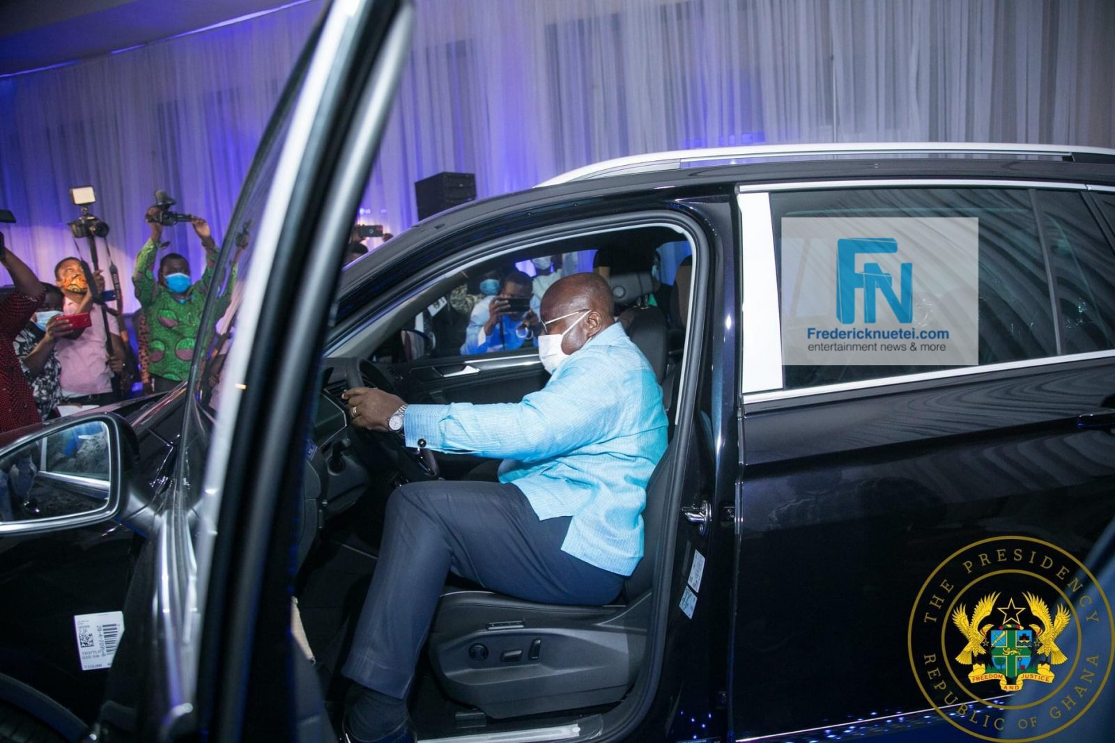 President Nana Akufo-Addo Unveiled The First VW Vehicles Assembled In The Newly Established VW Assembly Plant In Ghana