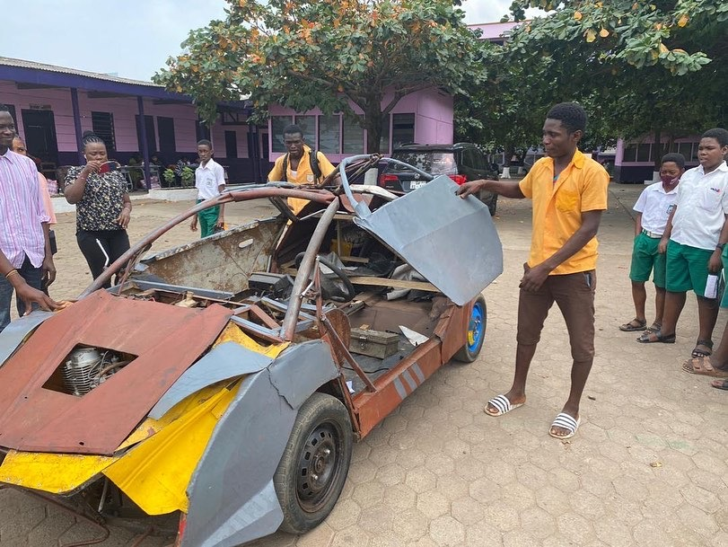 Meet 18-Year-Old BECE Graduate Who Built His Own Car