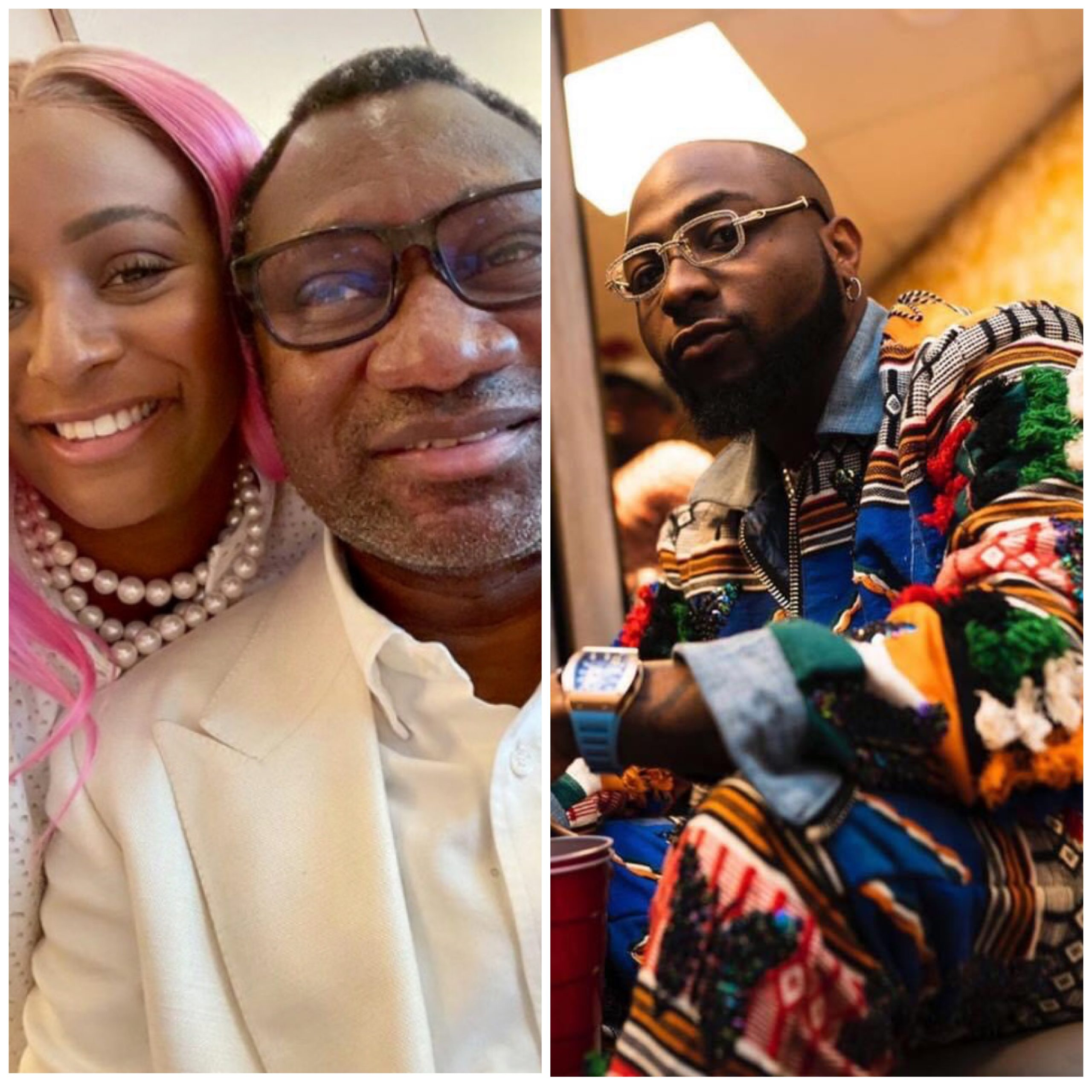 Davido Taps Into Otedola's Blessings After They Flaunt Their Ferrari's, See His Reaction