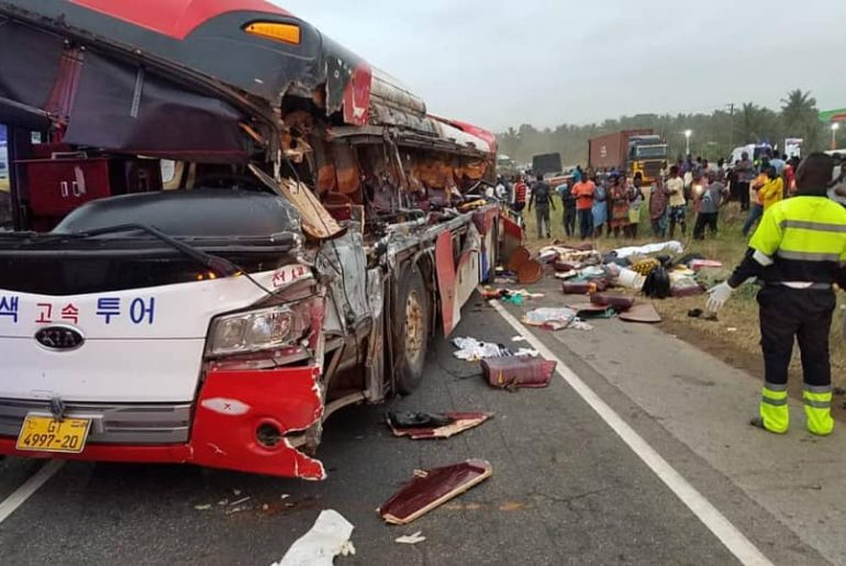 Just In: 10 Confirmed Dead On Accra-Kumasi Road Accident