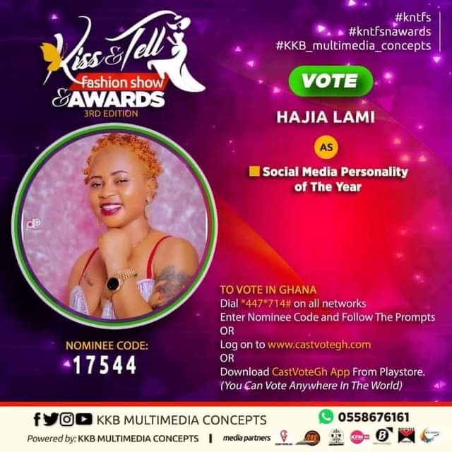 Hajia Lami Nominated For Social Media Personality Of The Year At The Kiss & Tell Fashion Show & Awards