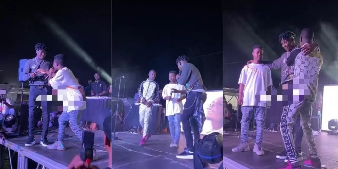 Stonebwoy introduces two new young musicians at Bhim Fridays concert, Frederick Nuetei