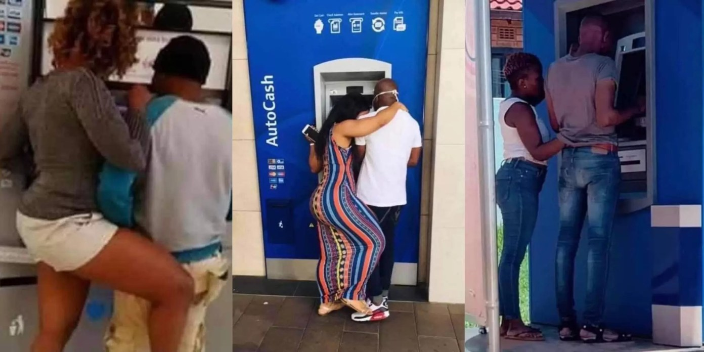 , Photos: Ladies are now using different techniques to collect money from their boyfriends at the ATM, Frederick Nuetei
