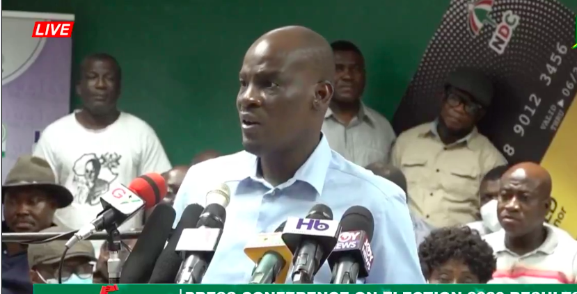 BREAKING: The NDC rejects presidential results, Frederick Nuetei