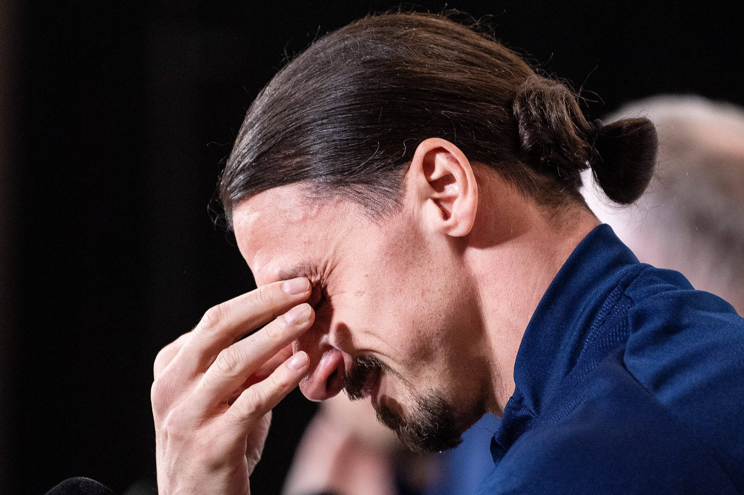 , Watch: Ibrahimovic visibly emotional during a press conference when asked what his children think of his return to playing for his country, Frederick Nuetei