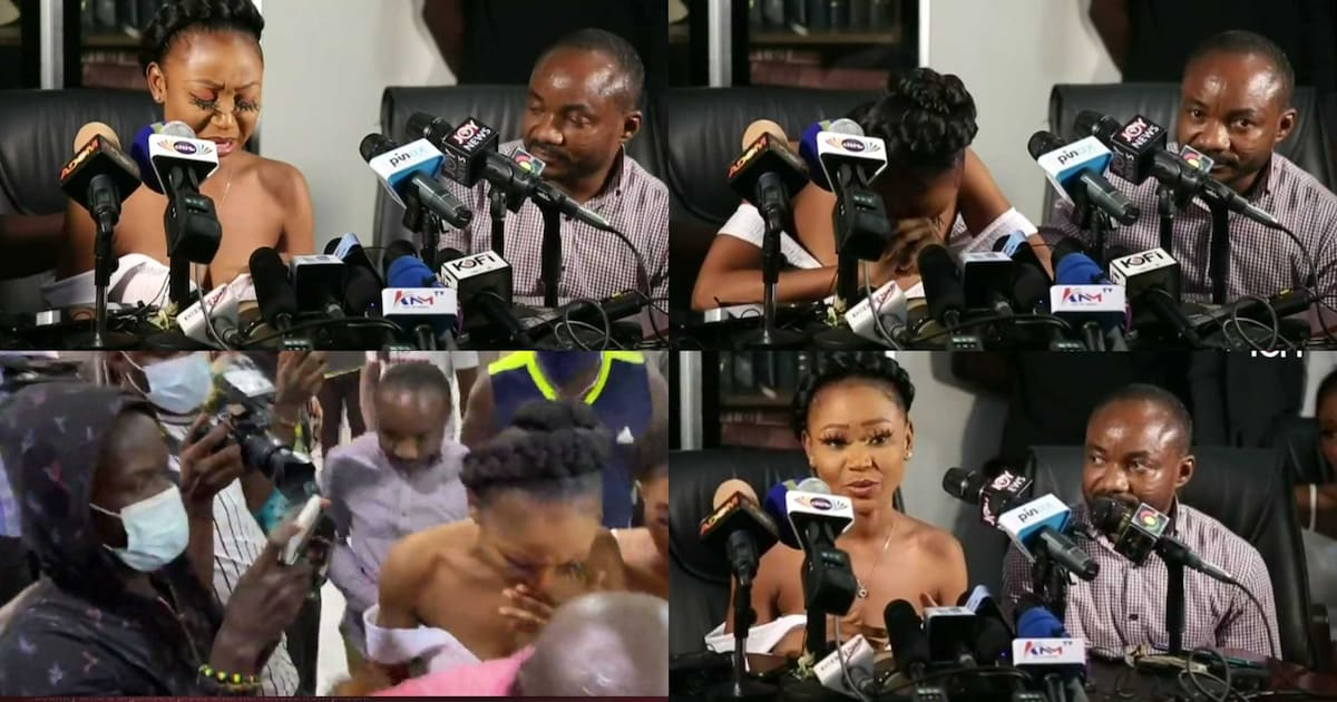 , Watch: Akuapem Poloo breaks down in tears as she address the media at a press conference, Frederick Nuetei