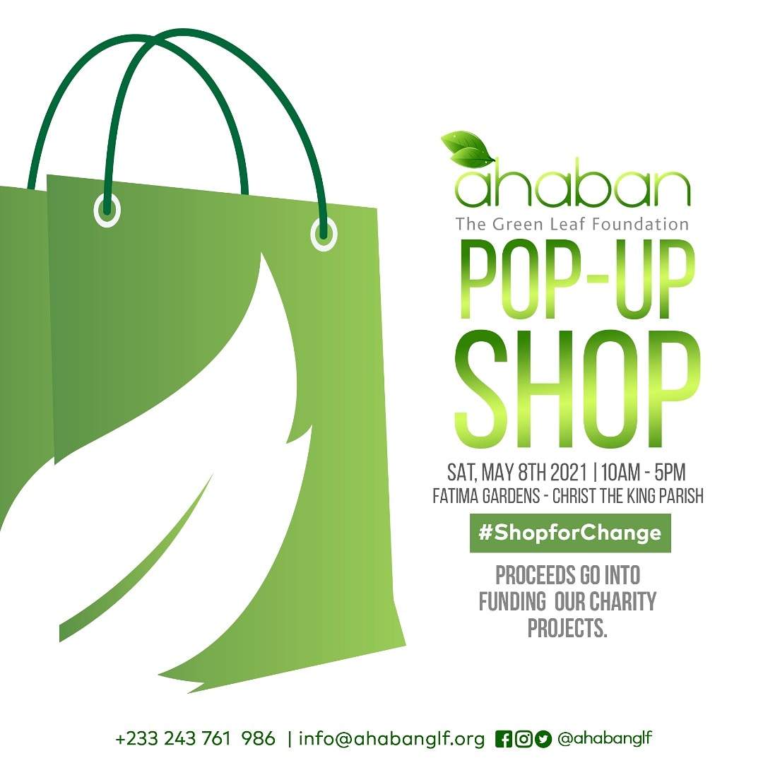 , The Green Leaf Foundation (Ahaban) announces fund raising for Ahaban Pop-Up Shop, Frederick Nuetei