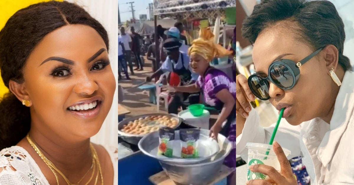 , Nana Ama MacBrown causes stir with video preparing and frying 'bofroat' in public, Frederick Nuetei