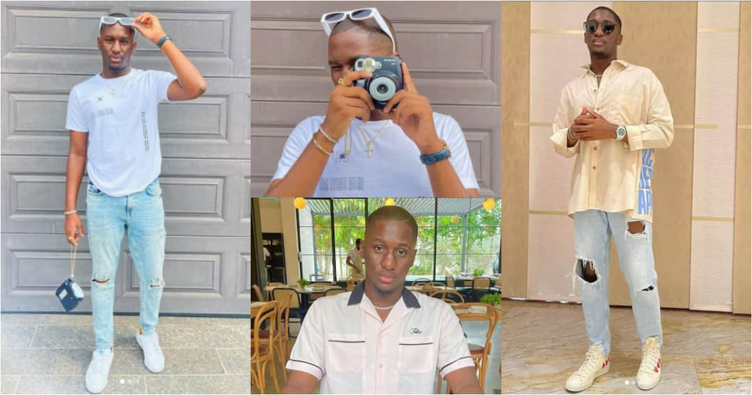 , Saahene Osei: Despite's 18-year-old son serves his fans with his freshness in new fashion photos, Frederick Nuetei