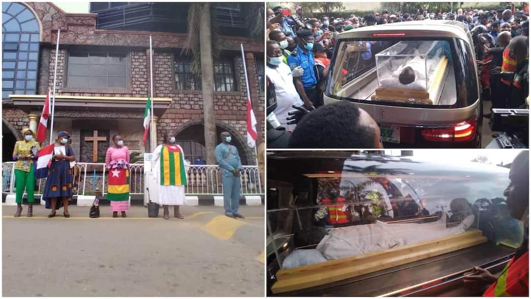 , Just in: Prophet TB Joshua finally laid to rest, photos & video emerge online, Frederick Nuetei