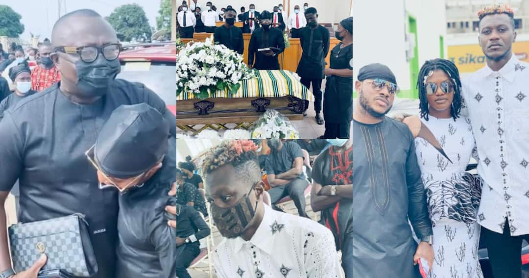 , Bola Ray, Dr Cryme, Opanka, Iona, others mourn with Keche Andrew as he buries his father, Frederick Nuetei
