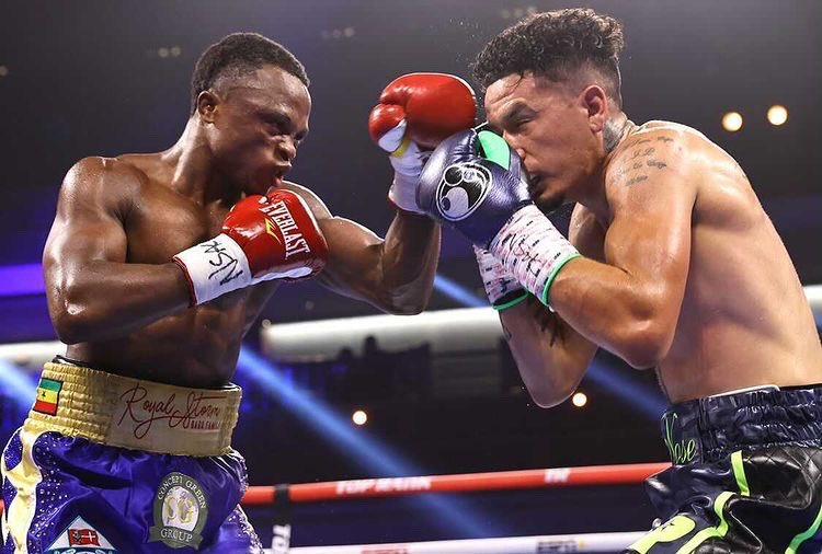 , Isaac Dogboe finally receives NABF title in his gym; photo drops, Frederick Nuetei