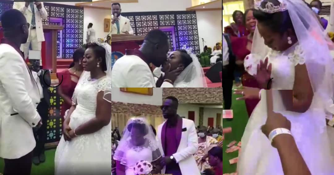 , Videos from the white wedding of Funny Face's ex-wife pop up online, Frederick Nuetei