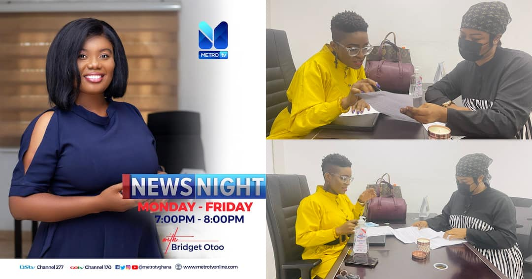 , Photos Of Bridget Otoo at work at Metro TV amid reports of her 'Sacking', Frederick Nuetei