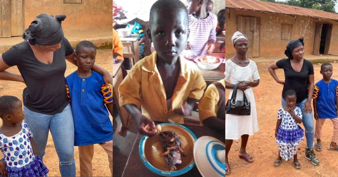 , Boy who ate Fufu on his Our Day in viral viral photo gets sponsor, Frederick Nuetei