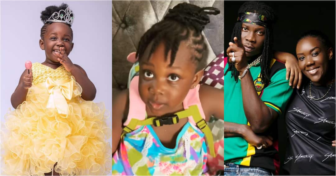 , Stonebwoy reacts as his wife Dr Louisa teaches their daughter twi  in video, Frederick Nuetei