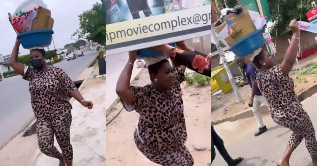 , Video drops as Sista Afia storms streets as 'pure water' seller to give freebies to fans, Frederick Nuetei