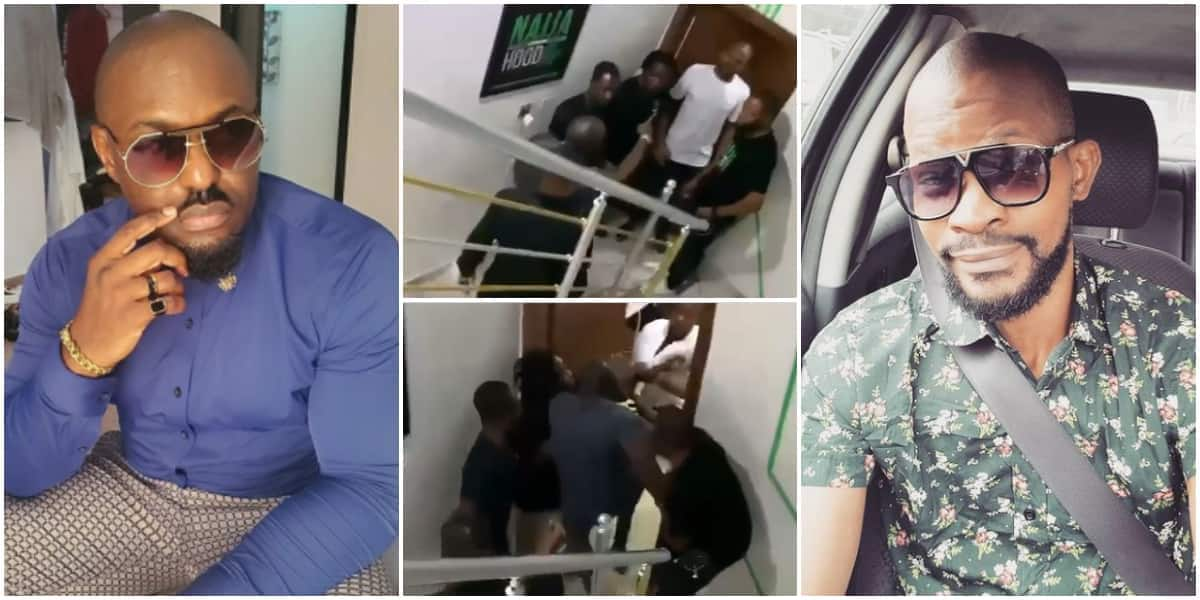 , Jim Iyke physically assault Uche Maduagwu days after viral name-calling incident (video), Frederick Nuetei