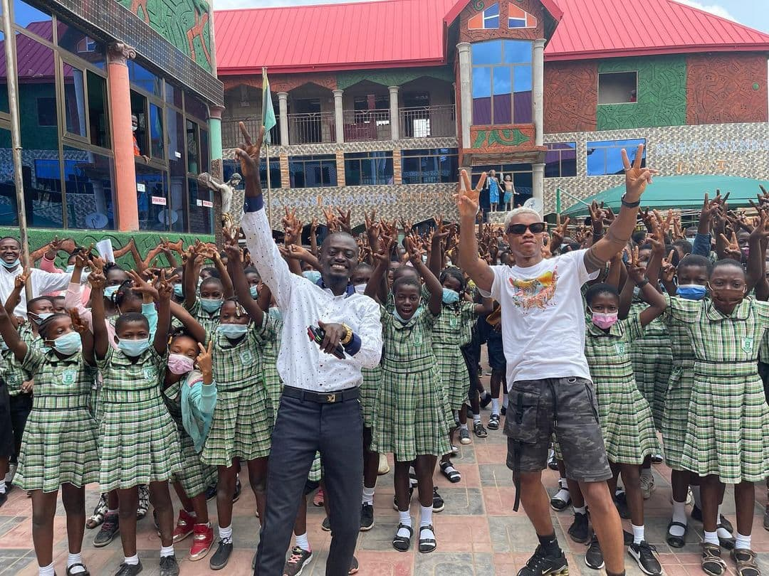 , Photos: KiDi pays a surprise visit to LilWin's school in Kumasi, Frederick Nuetei