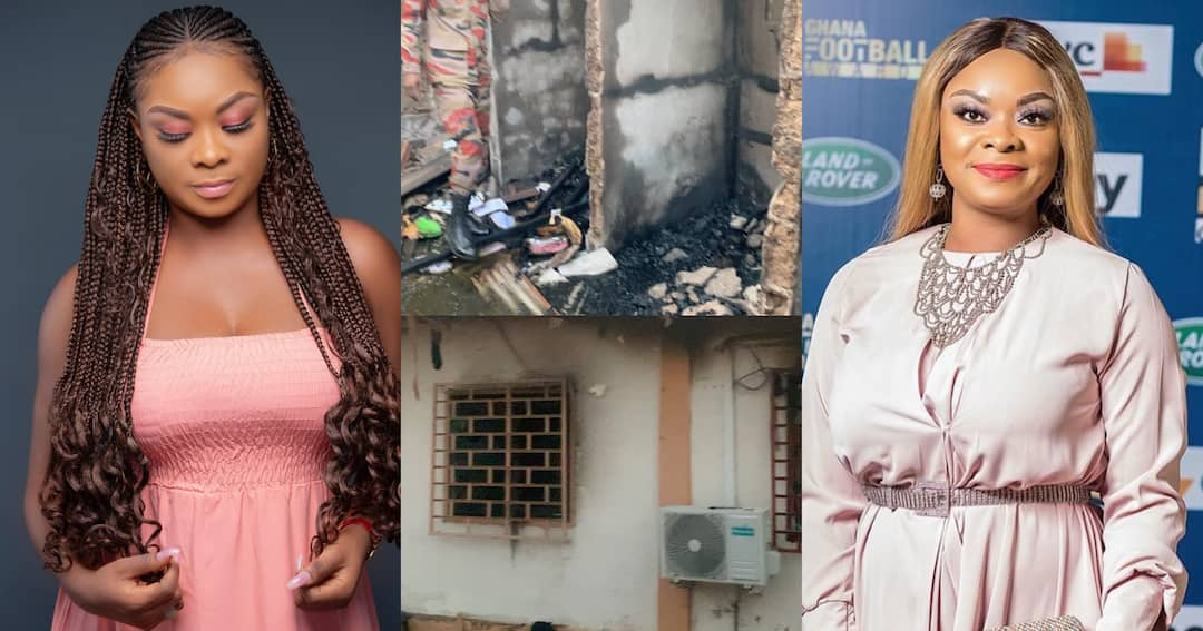, Beverly Afaglo: Actress house gutted by fire; Videos drop, Frederick Nuetei