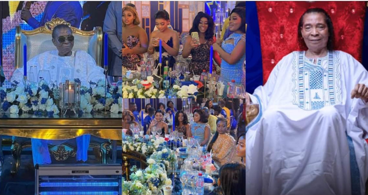 , Beautiful daughters of Safo Kantanka show off at his lavish 73rd b'day party, Frederick Nuetei