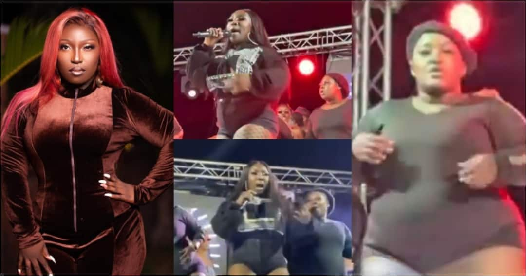 , Eno Barony thrills fans with heavy dancers as she performs 'Heavy Load' at Teshie We Dey concert, Frederick Nuetei