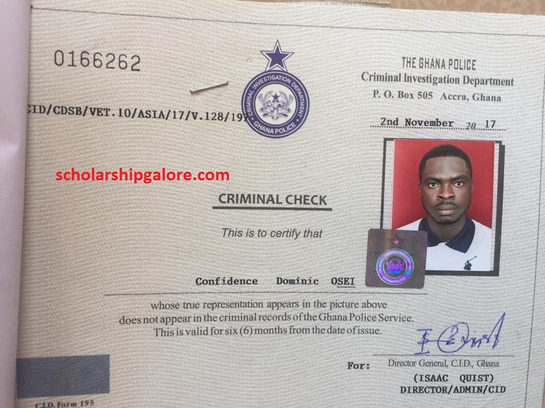 , How to get Police Clearance Certificate in Ghana for traveling, Frederick Nuetei