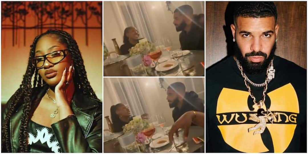 , Nigerian singer Tems and Canadian rapper Drake spotted eating together in video, Frederick Nuetei