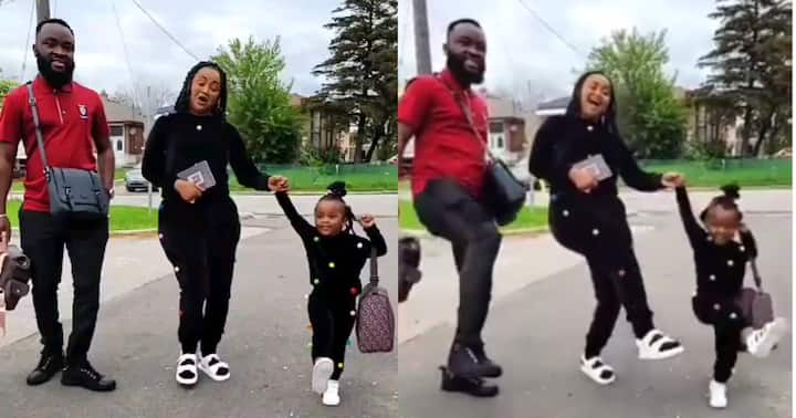 , Baby Maxin: McBrown's daughter dances to 'Duduke' with her mum and dad, Frederick Nuetei