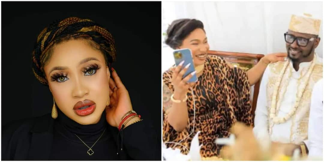 , Tonto Dikeh: Actress caught on tape tearfully begging ex-lover Prince Kpokpogri not to leave her, Frederick Nuetei