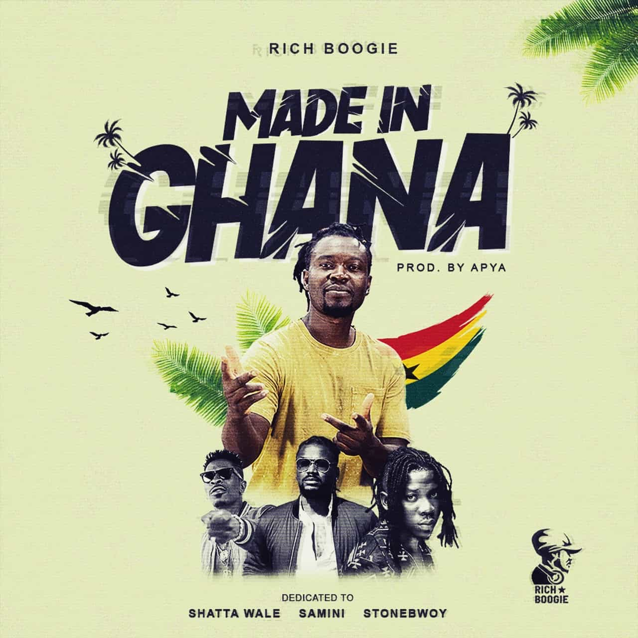 , Listen Up: Rich Boogie teams up with Samini, Shatta Wale & Stonebwoy for 'Made In Ghana', Frederick Nuetei
