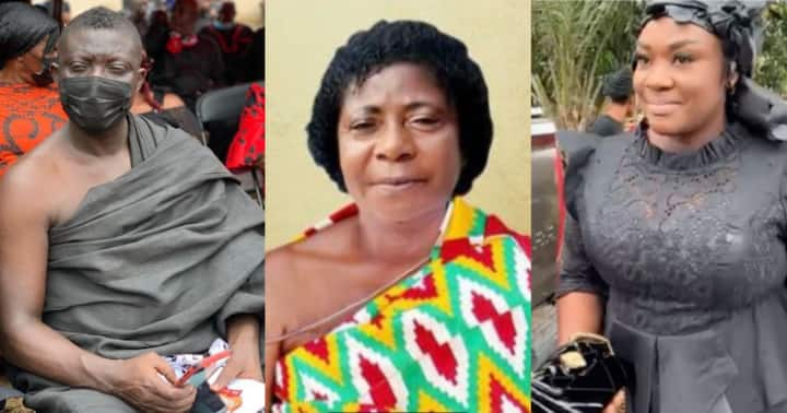 , Bill Asamoah: Actor lays mum to rest, Emelia Brobbey, other stars mourn with him, Frederick Nuetei