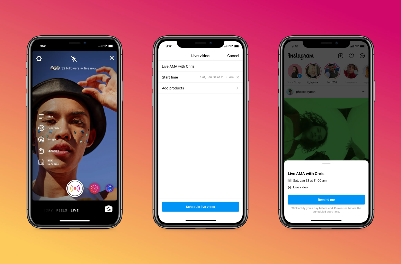 , Instagram adds scheduling and 'practice mode' features for live creators, Frederick Nuetei